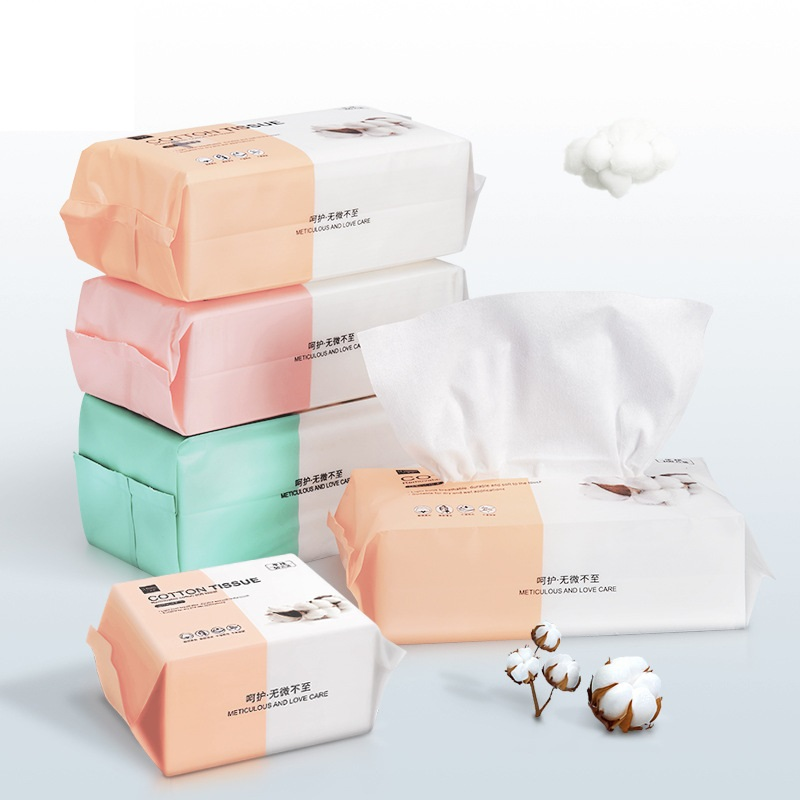 100PCS Washcloth Single Use Clean Face Towel Pure Cotton Non-Woven Fabrics Draw-Out Cotton Towel Thicken Wet And Dry