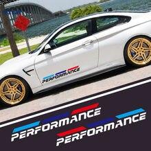 2 шт. 50 см M производительности Стикеры виниловые авто части двери линия талии значок автомобиля украшения для BMW E46 E39 E38 E90 E60 Z3 Z4 X3 X5 X6