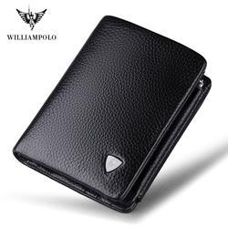 Элитный бренд ограниченное время продажи WilliamPOLO итальянский пояса из натуральной кожи 3 раза держателей карт короткие портмоне PL138