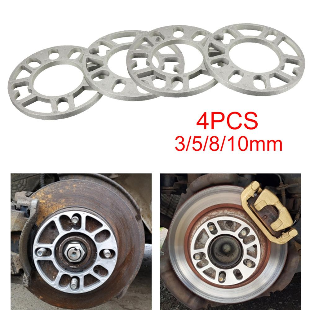 4PCS 3/5/8/10mm Car Alloy Aluminum Wheel Spacers Adapter Shims Plate For 4/5 Stud Wheel 4x100 4x114.3 5x100 5x108 5x114.3 5x120