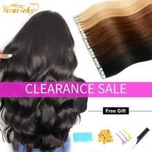 Tape Hair Extensions Menselijk Haar Ombre Straight Europese Remy Op Lijm Onzichtbare Pu Inslag 20 Pcs 40 Pcs Natuurlijke Haar extensions