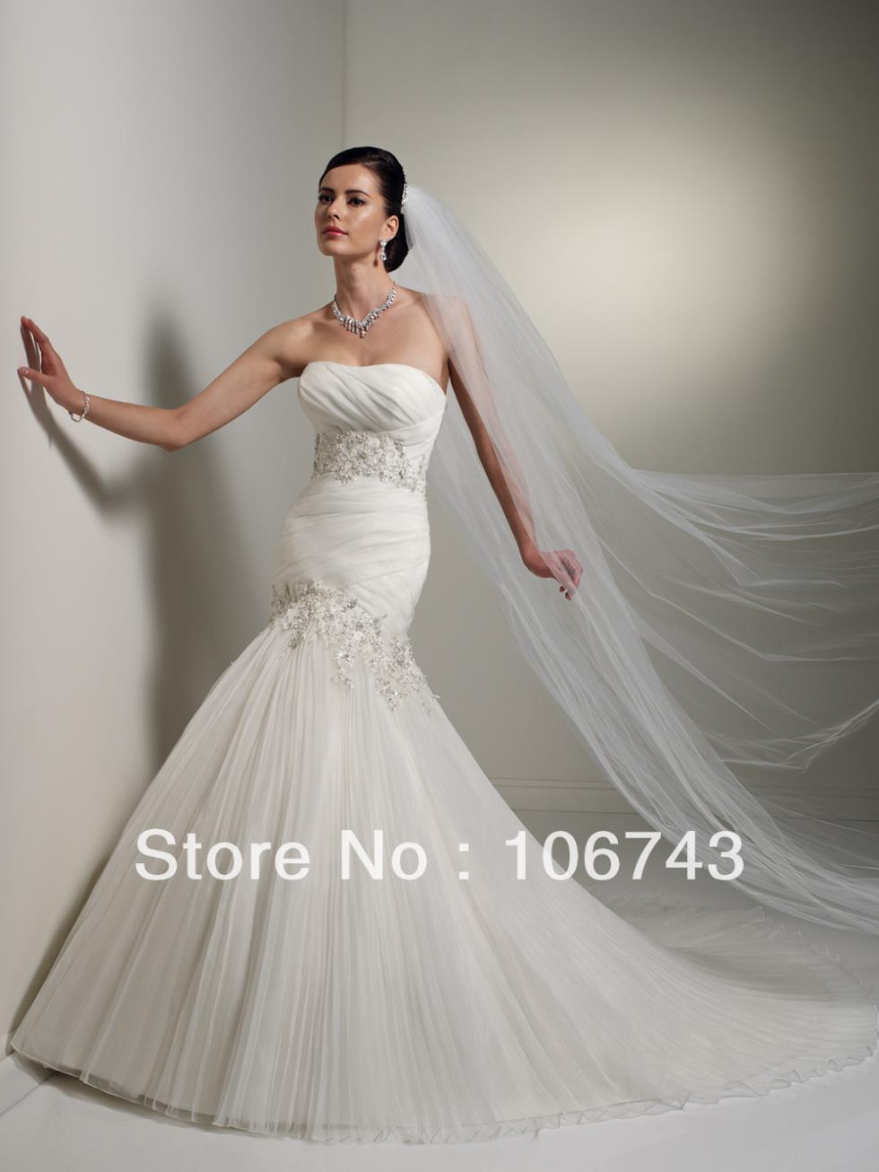 Free Shipping 2017 New Style Best Seller Sexy Bride Wear Handmade Custom Sizes Crystal Lace Up Plus Size Mermaid Wedding Dress