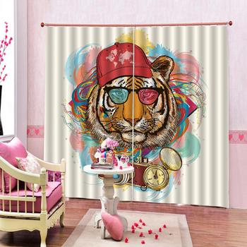 tiger curtains Luxury Blackout 3D Window Curtains For Living Room Bedroom Customized size Decoration curtains