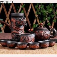 10 шт/партия чайный сервиз с исиновой кистью ручной работы чайник