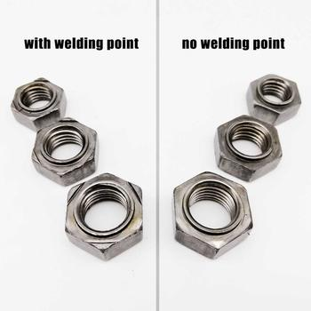 2//20pcs M4-M16 Carbon Steel Hexagon Hex Stud Spot Weld Nut No Solder Point Nut