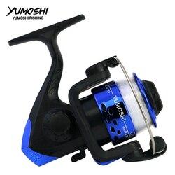 YUMOSHI JL Series kołowrotek wędkarski z żyłką 12BB koło do świeżej/słonej wody Spinning Sea Fishing Reel Carp Fishing