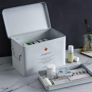 Image 3 - Medicine box household medicine box drug storage box child family size size portable outpatient emergency medical kit