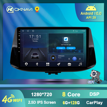 6G 128G Autoradio Car Radio for Hyundai I30 2017 2018 GPS Navigation Android 10.0 Carplay Audio Stereo Streeing Wheel Carplay image