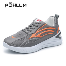 PUHLLM Autumn winter Sneakers New Women's Shoes Fashion Sports Shoes  Flats Fashion Casual Ladies Shoes Woman Lace-Up Mesh Breathable Female Sneakers B86