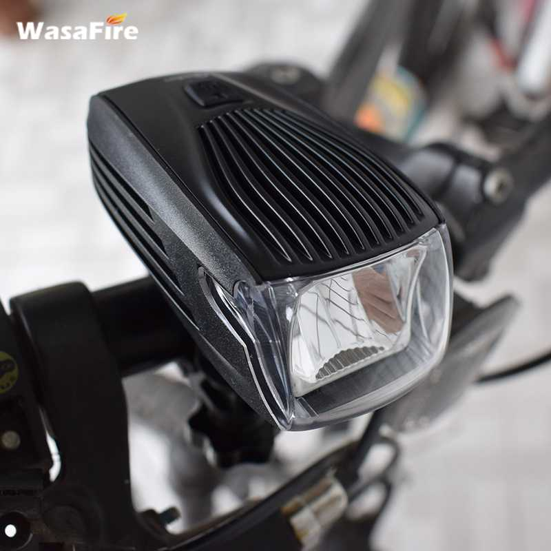 WasaFire USB Rechargeable 5 Modes Bicycle Lights Headlight Builtin Battery Farol Bike Front Light Intelligent Luces Bicicleta