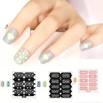 Fashion Nail Art Template Sticker Stamp Stencil Guide Reusable Tips Stamping Tool image