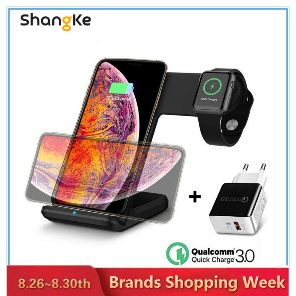 Mobile-Holder Phone-Watch Apple Fast-Charging Wireless-Charger Qi Samsung 8-Plus
