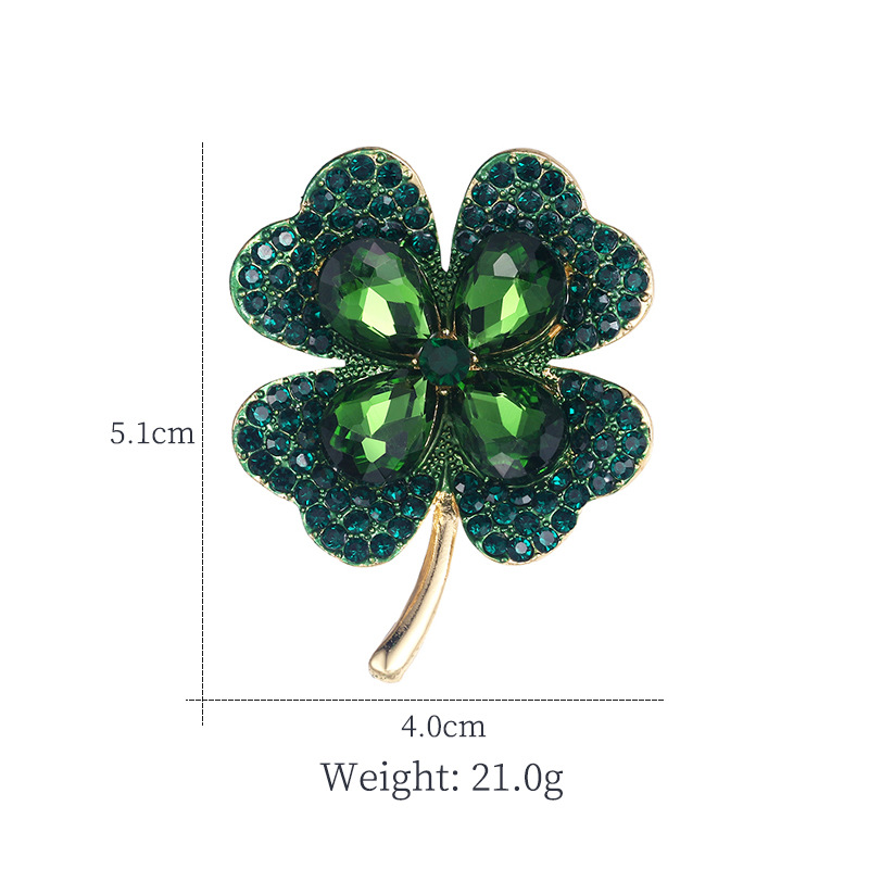 Creative Light Luxury High-end Four-leaf Clover Brooch CLOVER JEWELLERY