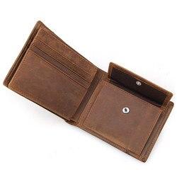 Cartera para hombre nueva marca famosa de cuero, billetera larga con cremallera, monedero, tarjetero de identificación