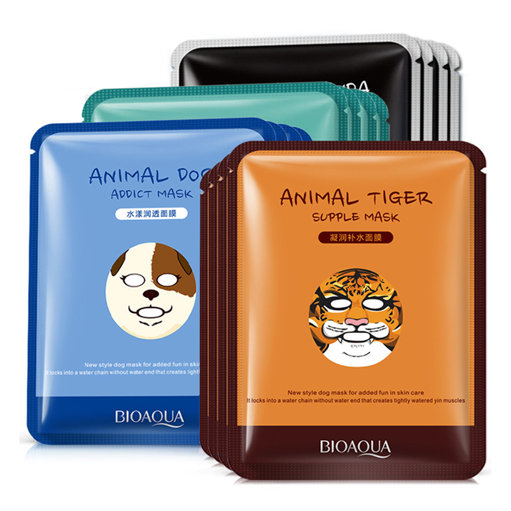 Tiger Animal Mask Combination Nourishing Hydrating Mask Lasting Moisturizing Face Care Watery Skin Non-irritating TSLM1
