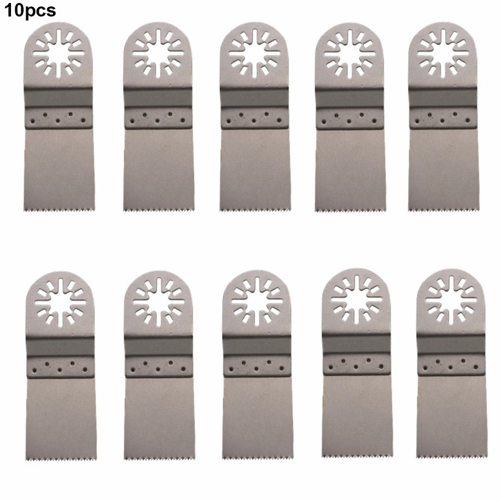 10PCS 34MM Multifunctional Saw Blades Portable Oscillating Multi Tool Durable Woodworking Cutter Set Tool Accessory