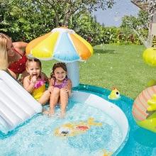 Kids Inflatable Bath Tub Crocodile Park Fountain Baby Marine Ball Pool Children Portable Swimming Pool Lightweight Reservoir