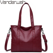 Luxury Soft Leather Handbags High Quality Shoulder Messenger Bags for Women Casual Ladies Large Capcity Tote Bag Shopping Bags