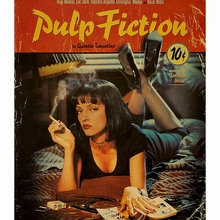 Painting Art Poster-Bar Picture Paper Wall-Sticker Room Decoration Movie-Pulp Fiction