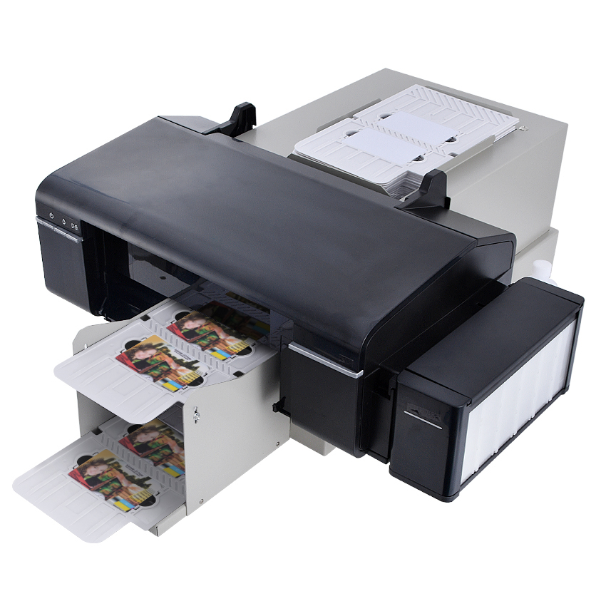 automatic pvc id card printer plus 50pcs pvc tray for pvc