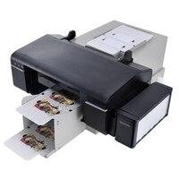 Automatic PVC ID card printer plus 50pcs pvc tray for pvc card printing machine PVC White Card/CD Print ordinary dye Use ink