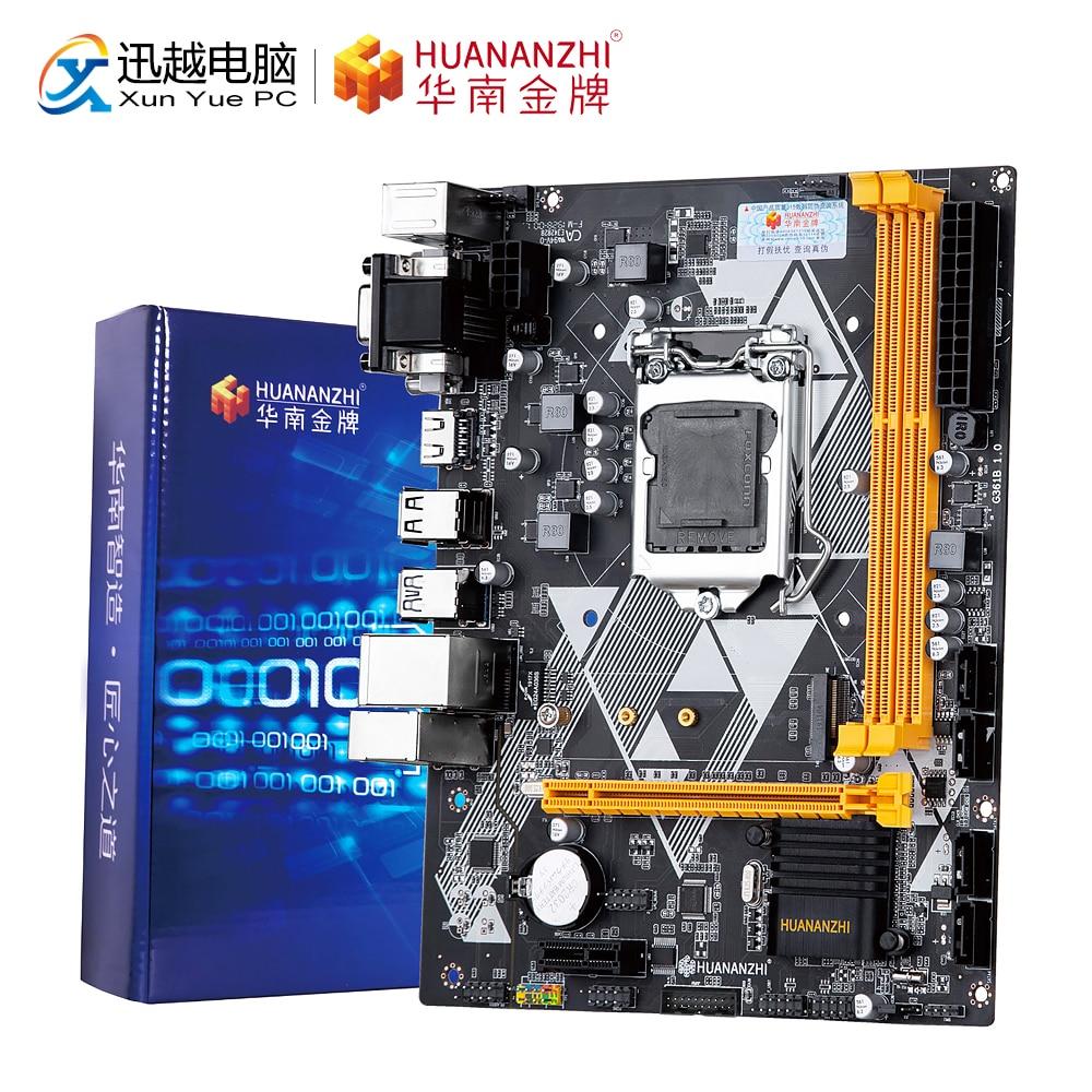 HUANAN ZHI B85 M-ATX Motherboard B85 Intel LGA 1150 I3 I5 I7 E3 DDR3 1333/1600MHz 16GB M.2 SATA3 USB3.0 VGA DVI HDMI Mainboard