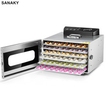 SANAKY 6-layer Food Dryer Fruit Air Dryer Dried Fruit Machine Small Home Dehydrator Rongdou Pet Snack Drying Voltage110V-220V