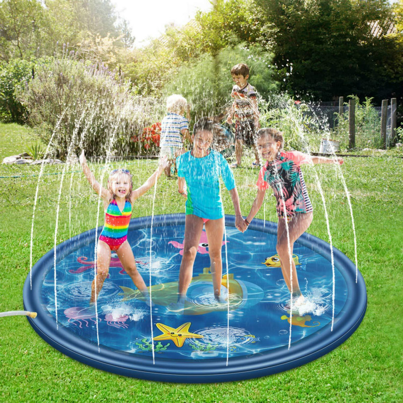 Children's Water Playing Beach Toys / Children's Outdoor Water Spray Mat In Summer / Lawn Beach Game Water Spray Cushion