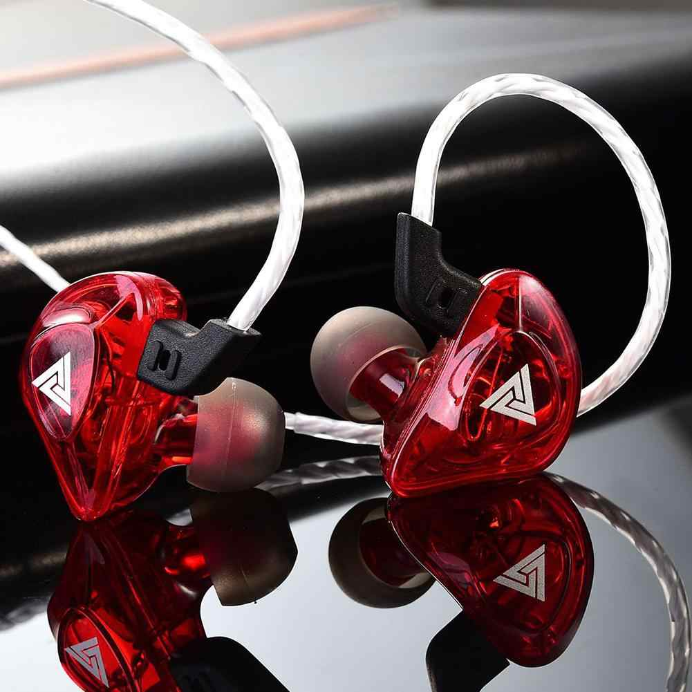 QKZ-AK5 Portable Berat Bass In-Ear Wired Musik Ringan Earphone Ergonomis Olahraga Earpiece dengan MIC