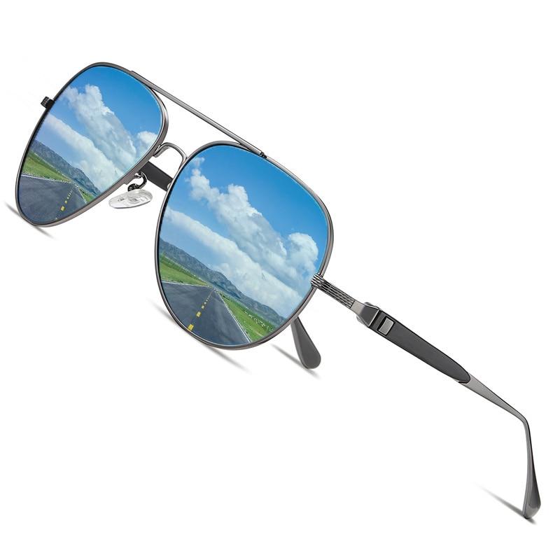 AOFLY BRAND DESIGN Pilot Sunglasses Men Polarized Metal Frame Anti Glare Mirror Lens 2020 Fashion Fishing Sun Glasses Male UV400 Men