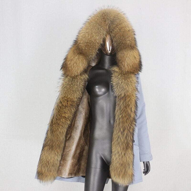 H20c9326873c54733b2d55b0b066a5ee6M CXFS 2021 New Long Waterproof Parka Winter Jacket Women Real Fur Coat Natural Raccoon Fur Hood Thick Warm Streetwear Removable