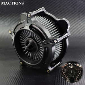 Image 1 - فلتر سحب منقي هواء أسود سبايك لـ Harley Sportster XL 883 Dyna V قضيب خفيف فات بوي بجولة الترا FLHR FLHX FLSTNSE
