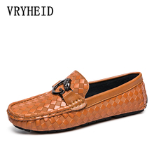 VRYHEID 2019 Men Shoes luxury Brand Moccasin Genuine Leather Casual Driving Shoes Men Loafers Moccasins Italian Shoes for Men rommedal 2019 new men shoes luxury brand genuine real cow leather casual oxfords shoes men loafers moccasins for men shoes