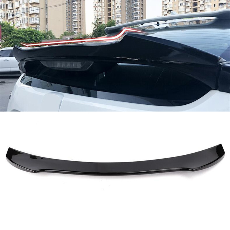CEYUSOT FOR Auto Parts Spoiler Honda Civic Hatchback Car Rear Window Lip Wing Tail Fin ABS Material Black Spoiler Civic 2016-20