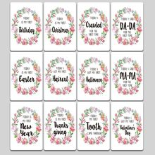 Shower-Gift-Set Baby Milestone Photo-Cards Firsts Moment Age-Markers Unique