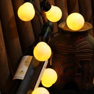 Image 2 - Edison LED lampa ogrodowa łańcuchy świetlne 5M 10M 220V Patio na świeżym powietrzu Yard krajobraz ślub dekoracje świąteczne