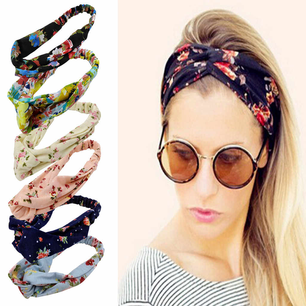 Cross Head Wrap Hair Band Women Hair Accessories Headband Boho Floal Style Criss Cute Girls Hair Headband Casual Hair Ornament Women S Hair Accessories Aliexpress