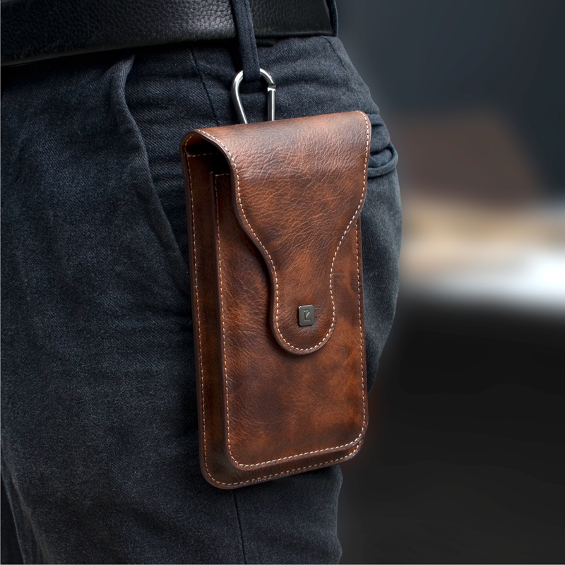 Belt Clip Holster Case for Phone Mobile Phone Bag 2 Pouchs for Samsung Note 10Plus 9 8 for iPhone 11 Pro Max XS Max 6 7 8 plus image