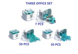 Clip Paper Clip Harita çivisi Turquoise color triple set kırasiye lovely set for Office School