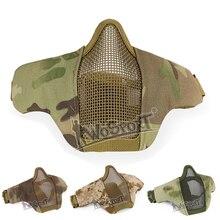 Adjustable Tactical Half Face Mask Metal Mesh Protective Airsoft Paintball Shooting Combat Masks