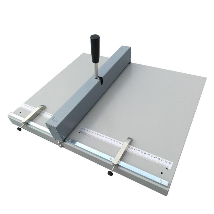 351mm Manual Paper Creasing Machine A4 Paper Creaser Scoring Folding Machine For Paper Photo Card Book Binding Equipment