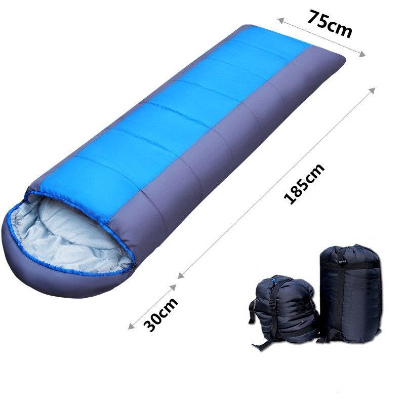 Outdoor Camping Sleeping Bag Travel Hiking Thicken Thermal Waterproof Cotton Sleeping Bags Indoor Home Sleep Bag Mat