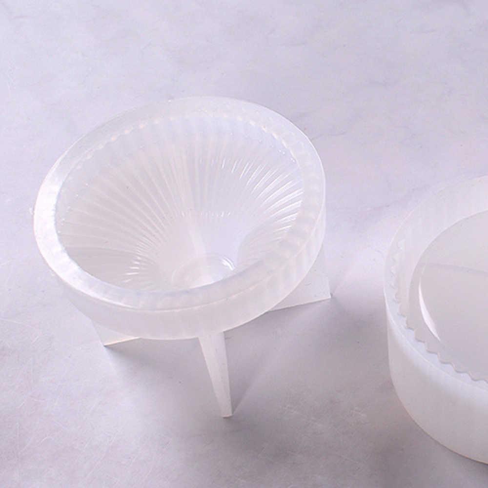 עגול פס אחסון תכשיטי תיבת DIY קריסטל אפוקסי שרף עובש סיליקון אחסון תיבת עובש תכשיטי ביצוע כלים