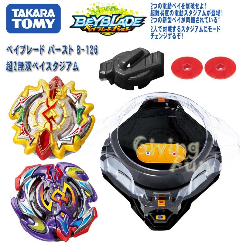 TAKARA Tomy Gyroscope jouet B126 illimité électrique Gyroscope bataille jeu de disques Beyblade rafale avec lanceur métal plastique jouets de combat