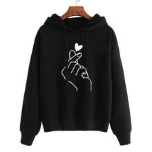 Plus Size Hoodies Women Sweatshirts 2019 Winter Autumn Kawaii Print Long Sleeve Hoody Jumper Top Blouse Women's Pullover 4XL