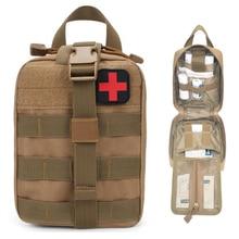 Kit de primeros auxilios para acampada, paquete de medicina militar portátil táctica médica para senderismo, paquete de cintura de tela Oxford de emergencia, bolsa vacía grande