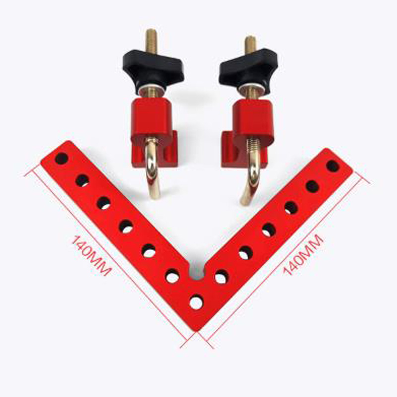 High Quality Material 2PCS L-Square Clamp Square Woodworking 90 Degree SAE Angle Ruler Aluminium Alloy