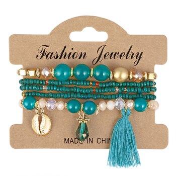 Women's Boho Style Stone Charm Bracelet Bracelets Jewelry New Arrivals Women Jewelry Metal Color: SL1513