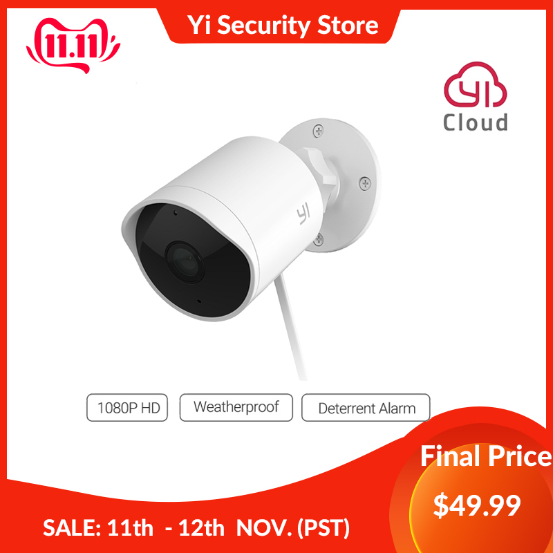 YI CCTV IP Camera Outdoor HD 1080P Waterproof Night Vision Wireless 2.4G Wifi Security Cam Surveillance System Global Cloud-in Surveillance Cameras from Security & Protection