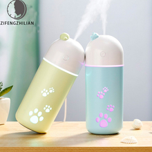 Portable USB Mini Q pet humidifiers Essential Oil Diffuser Aroma Lamp LED Night Light Cat humidifier Fogger Car air freshener